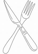 Knife Coloring Pages sketch template