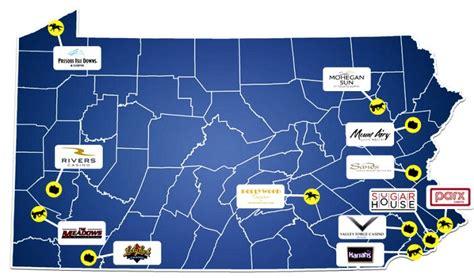 PA Casino Map, Pennsylvania Casino Map, PA Casinos ...