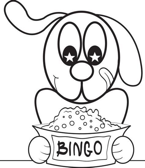 printable bingo  cartoon dog coloring page  kids puppies  color litle pups