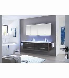 Meuble Double Vasque Suspendu : meuble suspendu salle de bain vialo double vasque 184 pelipal france pour sanitaires ~ Melissatoandfro.com Idées de Décoration