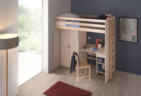 lit mezzanine armoire bureau lit mezzanine 90 x 190 cm morphea sommier panneau