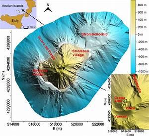 3d Representation Of The Stromboli Volcano