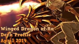 yugioh winged dragon of ra deck april 2014 youtube