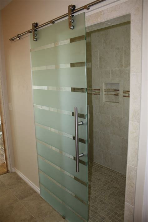 frameless sliding shower door glass