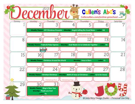 december preschool themes preschool calendars christian children activities 184