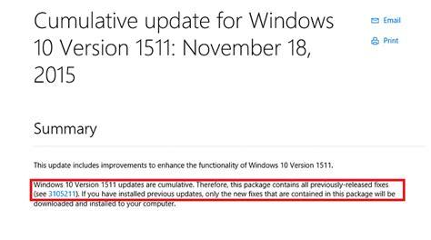 cumulative update for windows 10 version 1511 kb3118754 page 10 windows 10 forums