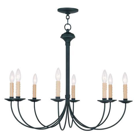black ceiling chandelier livex lighting providence 8 light black incandescent