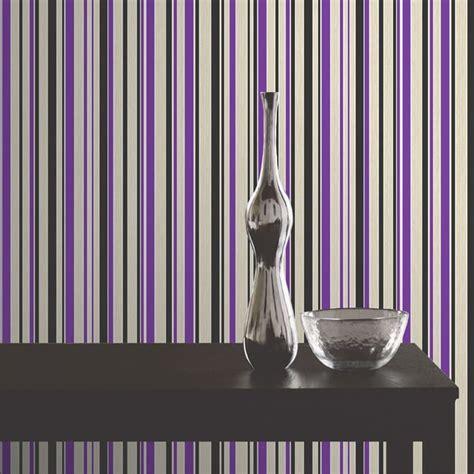 textured paintable wallpaper buy decor tulipa stripe wallpaper purple black white