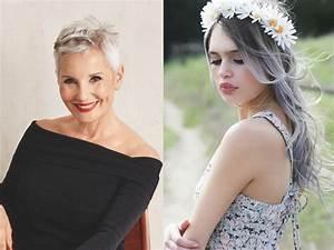 Coloration Cheveux Gris Perle : couleur cheveux gris perle coupes de cheveux et coiffures ~ Nature-et-papiers.com Idées de Décoration