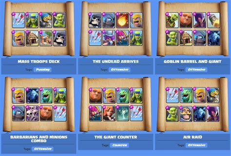 clash royale best decks by arena