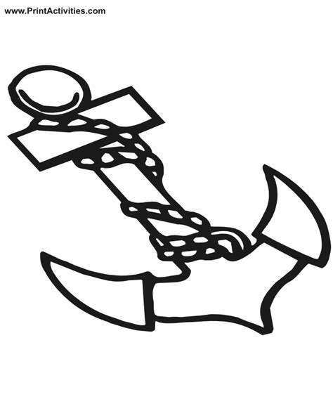 Boat Anchor Coloring Page