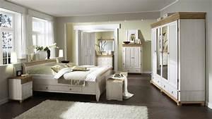 Schlafzimmer Set HELSINKI MALTA Kiefer Massiv Wei Und Antik