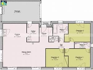 ordinaire plan maison etage 4 chambres gratuit 13 With plan de maison de plain pied gratuit