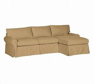 Pb basic left 2 piece with chaise sectional slipcover for Slipcovers for sectional sofa with chaise