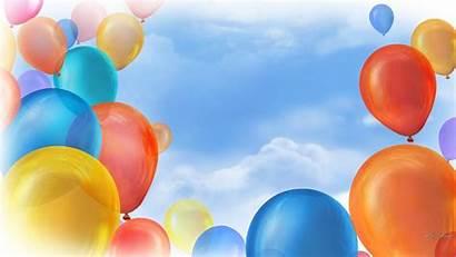 Celebration Birthday Celebrate Wallpapers Happy Balloons Landscape