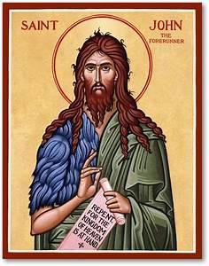 Men Saint Icons: St John the Baptist Icon Monastery Icons