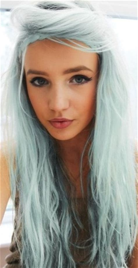 Light Skin With Blue by Sparkling Ash With Pastel Highlight Hairstyle Ideas