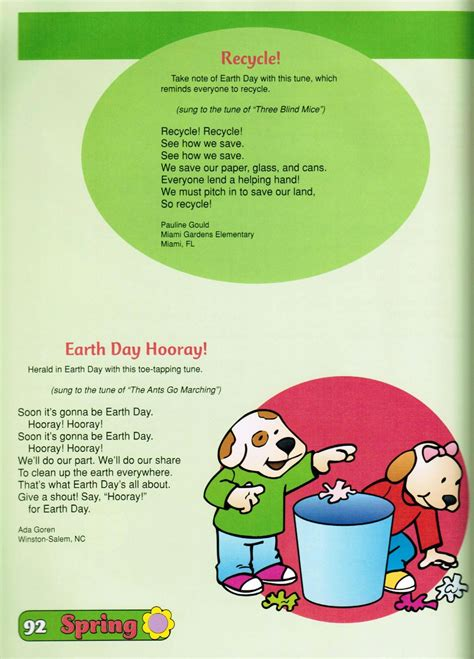 these earth day songs were taken from best of the mailbox 443   846a565f5e33a4ed4c2c783122952b41