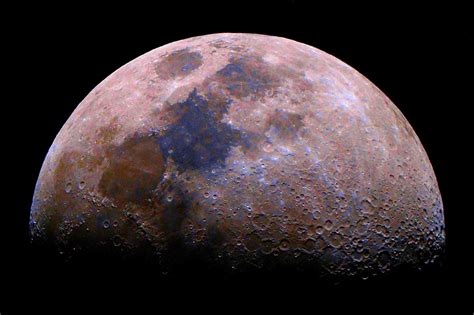 what is the color of the moon true colors of the moon sky telescope