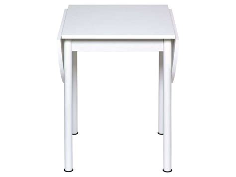conforama table cuisine pliante table avec allonges rabattables flipp coloris blanc