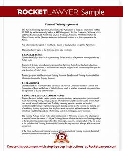 personal agreement contract template personal trainer With apprenticeship contract template