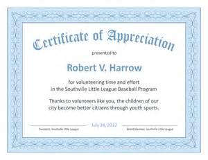 Recognition Certificate Templates Appreciation