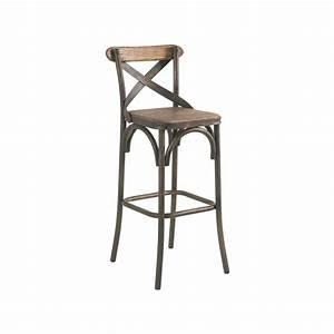 Chaise De Bar Bois : chaise de bar pin recycl et fer vieilli landaise pier ~ Dailycaller-alerts.com Idées de Décoration