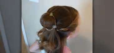 hair elastics how to create a disney princess hairstyle