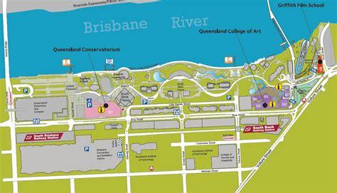 south brisbane map map  south brisbane australia