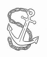 Anchor Chain Coloring Navy Drawing Pages Drawings Colouring Template Designlooter Tied Sketch 66kb 734px Paintingvalley sketch template