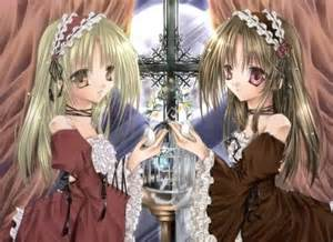 Anime Girl Twins Blonde Hair