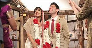 cece and schmidt marry on 39new girl39 wedding dress With cece wedding dress