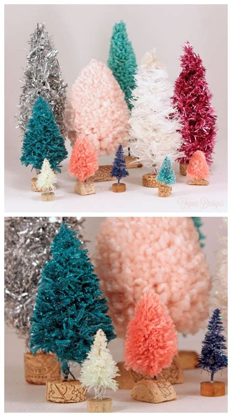 hometalk diy bottle brush trees