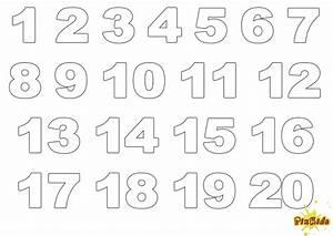 Ausmalbild Zahlen Ziffern kostenlose Malvorlagen