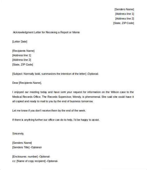 Debt Acknowledgment Letter Sle Formal Word Templates 38 Acknowledgement Letter Templates Pdf Doc Free