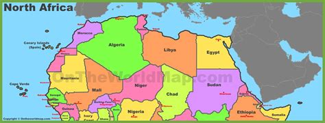 map  north africa