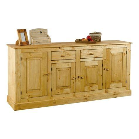 buffet cuisine en pin meuble bas rustique en pin 4 portes 2 tiroirs achat