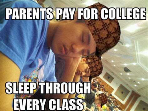 College Sleep Meme - how sleeping in class actually helps you learn bright futura