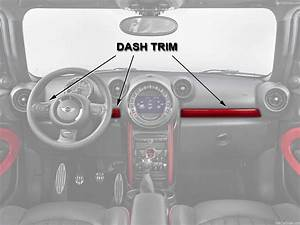 Mini Countryman Dash Trim Red Jcw Oem Gen2 R60 R61