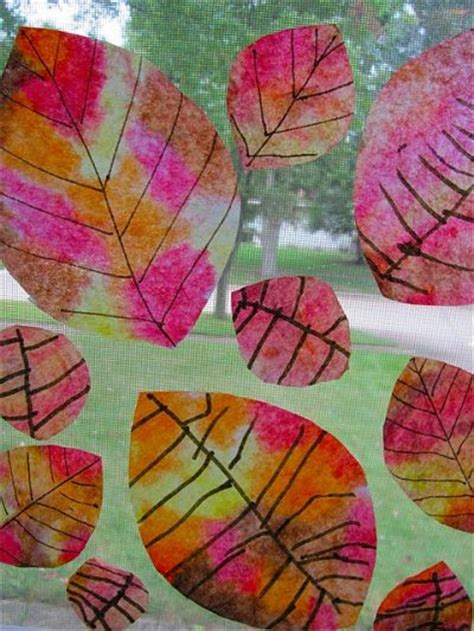 tie dye coffee filter fall leaves fun family crafts