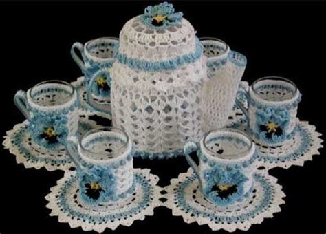 teatime candle doily set crochet pattern maggies crochet