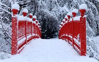 Winter Bridge Japan Covered Snowy Wallpapers Wallpapersafari