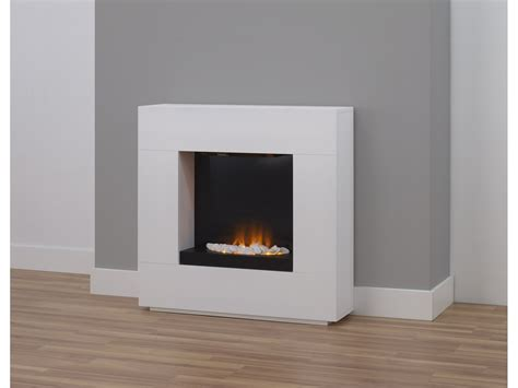 Decoration: Cool White Sears Electric Fireplace Decor With