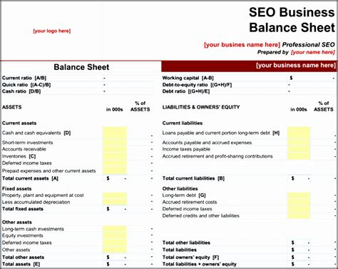 balance sheet format  excel sampletemplatess