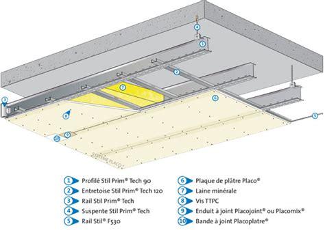plafond de verre definition stil prim 174 tech syst 232 me pour plafonds longue port 233 e l placo