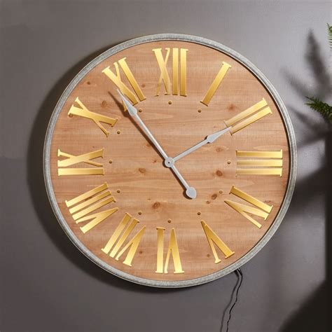 large wall mounted numeral wooden light up wall