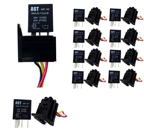 micro relay socket 4 pin normally open 20a 30a pack of 2pcs ebay