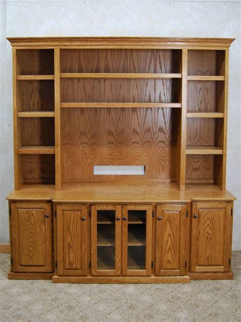 piece oak entertainment center de vries woodcrafters
