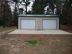 steel metal 2 car garage building kit 576 sq workshop barn With 2 car garage building kits