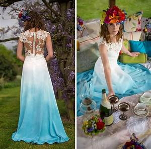 12 gorgeous tie dye wedding dresses girlsaskguys With tie dye wedding gowns